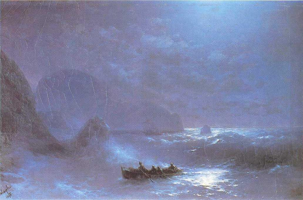 Lunar night on a sea - Ivan Aivazovsky