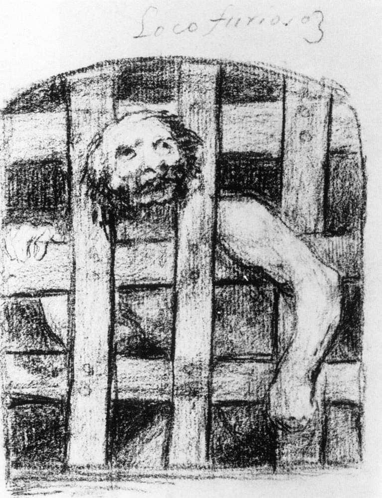 Lunatic behind Bars - Francisco Goya