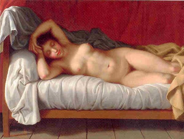 Lying Model in Bed - Christoffer Wilhelm Eckersberg