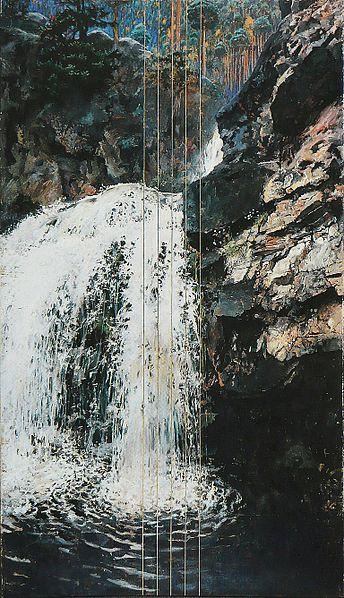 Mantykoski Waterfall - Akseli Gallen-Kallela