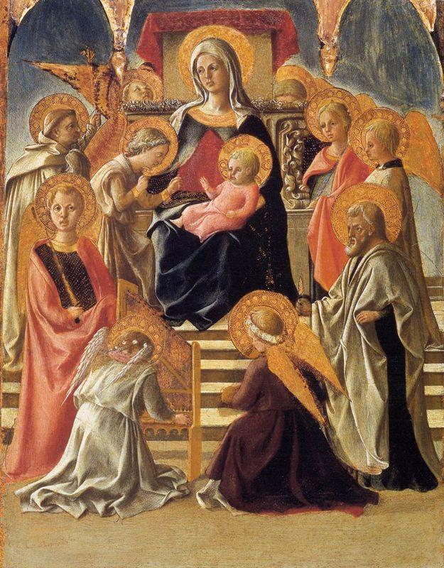 Madonna and Child Enthroned with Saints - Filippo Lippi