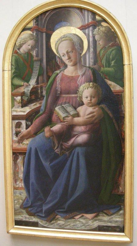 Madonna and Child Enthroned with Two Angels - Filippo Lippi