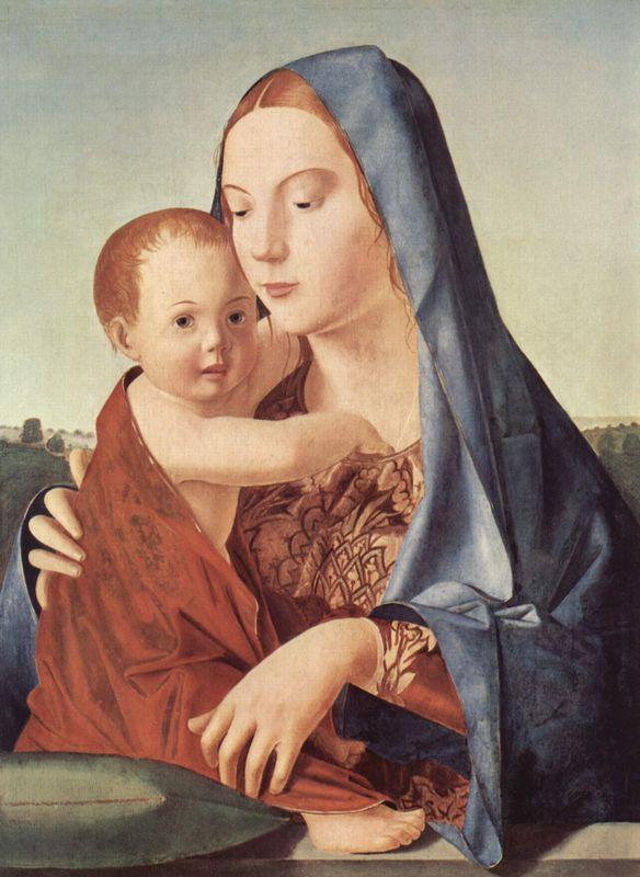 Madonna and Child (Madonna Benson)  - Antonello da Messina