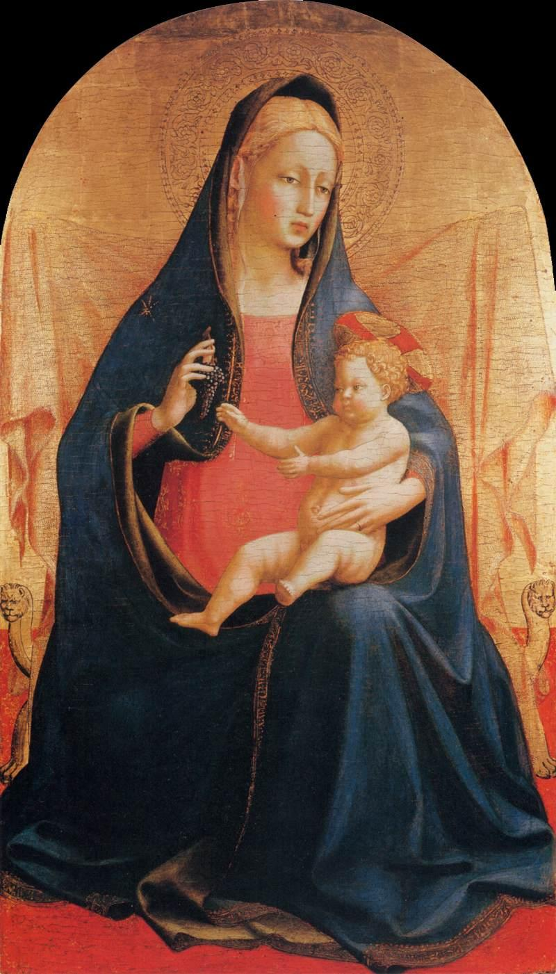 Madonna and Child of the Grapes - Fra Angelico