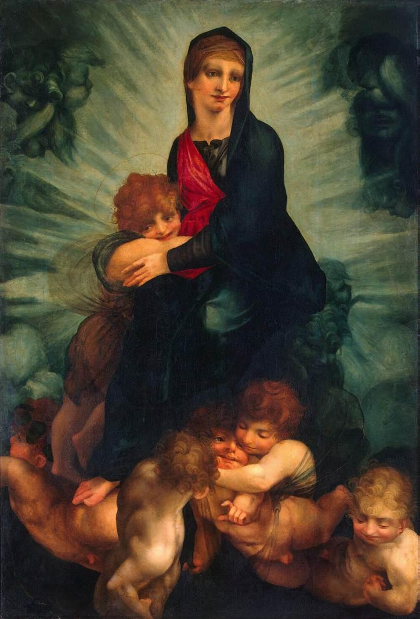Madonna and Child with Putti - Rosso Fiorentino