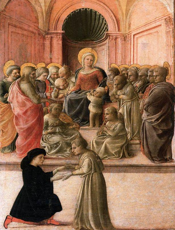 Madonna and Child with Saints, Angels and a Donor - Filippo Lippi