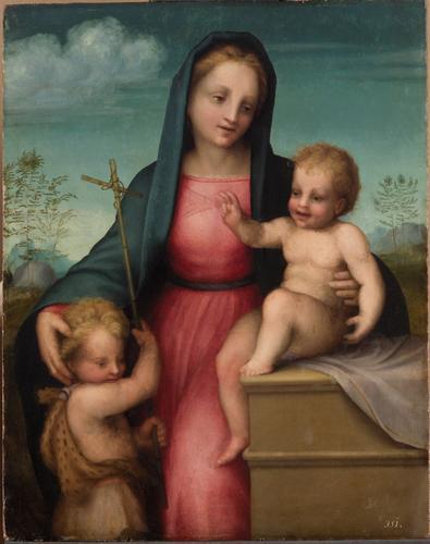 Madonna and Child with St. John the Baptist - Andrea del Sarto