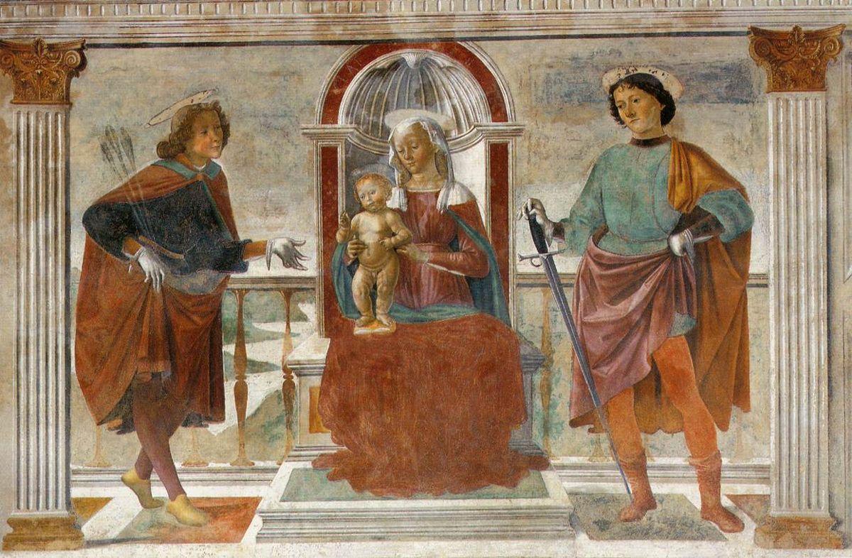 Madonna and Child with St. Sebastian and St. Julian - Domenico Ghirlandaio