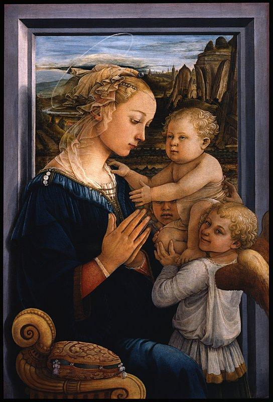 Madonna and Child with two Angels - Filippo Lippi