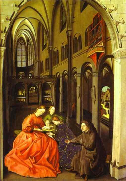 Madonna and Saints in a Church - Konrad Witz