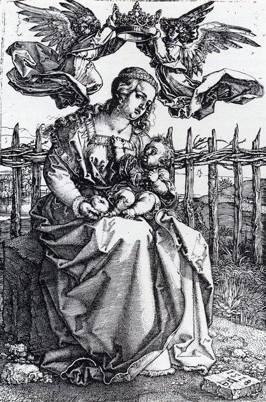 Madonna Crowned By Two Angels - Albrecht Durer
