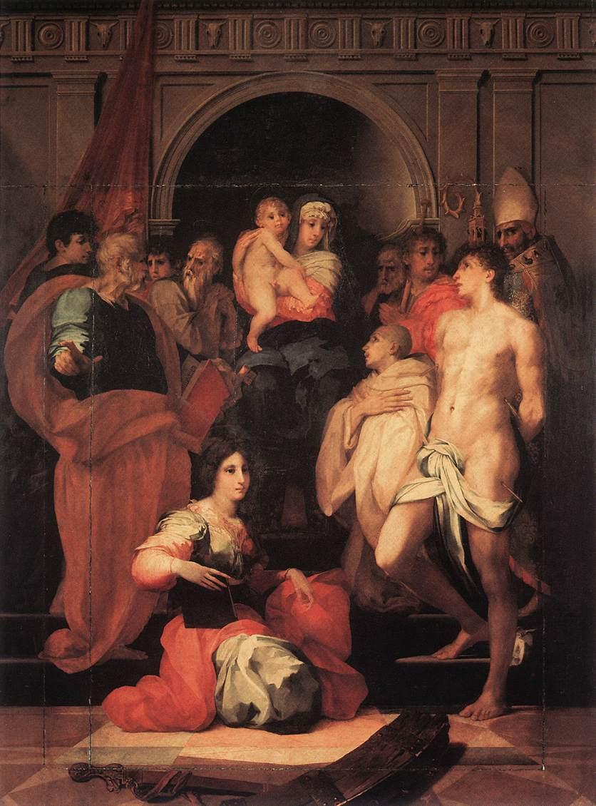 Madonna Enthroned and Ten Saints - Rosso Fiorentino