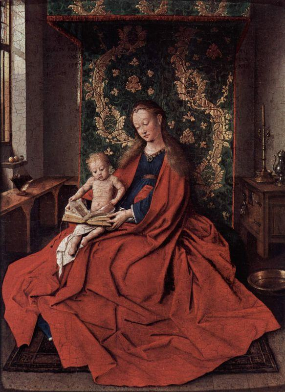 The Ince Hall Madonna (The Virgin and Child Reading) - Jan van Eyck