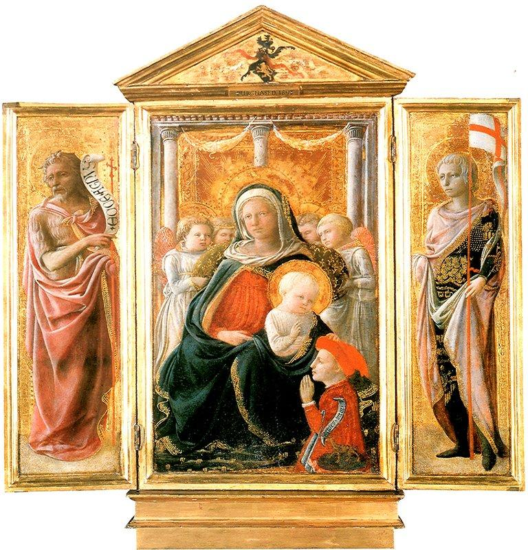 Madonna of Humility with Angels and Donor - Filippo Lippi