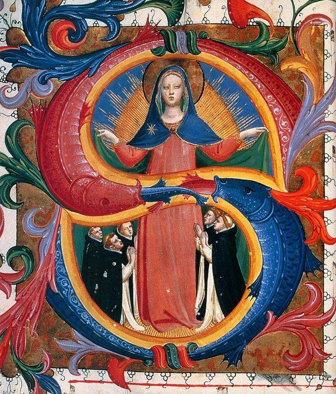 Madonna of Mercy with Kneeling Friars - Fra Angelico