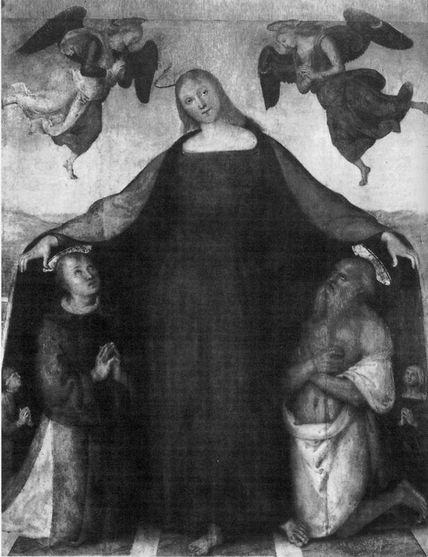 Madonna of Mercy with the saints and Stephen Jerome - Pietro Perugino