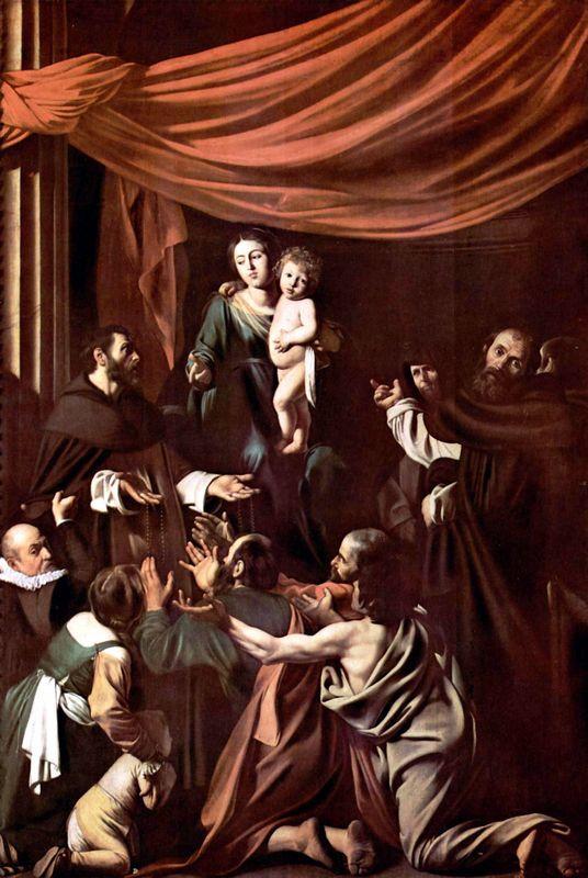 Madonna of the Rosary (Madonna del Rosario) - Caravaggio