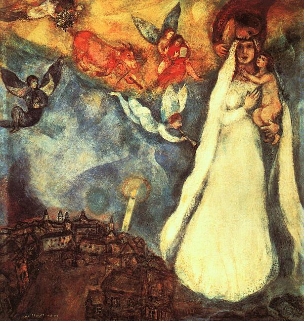 Madonna of village - Marc Chagall