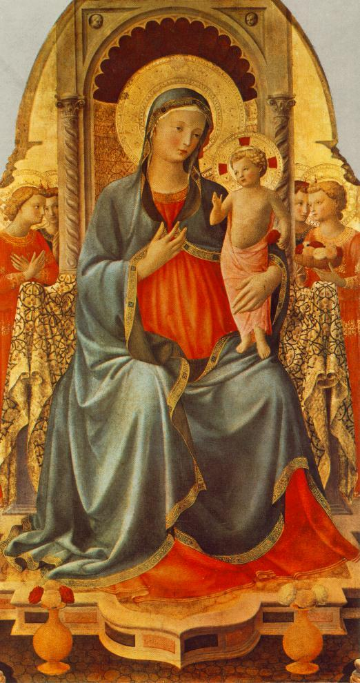 Madonna with the Child and Angels - Fra Angelico