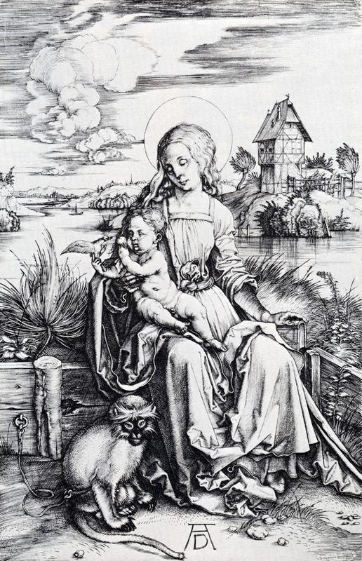 Madonna With The Monkey - Albrecht Durer