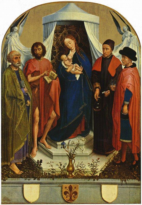 Madonna with the saints - Rogier van der Weyden