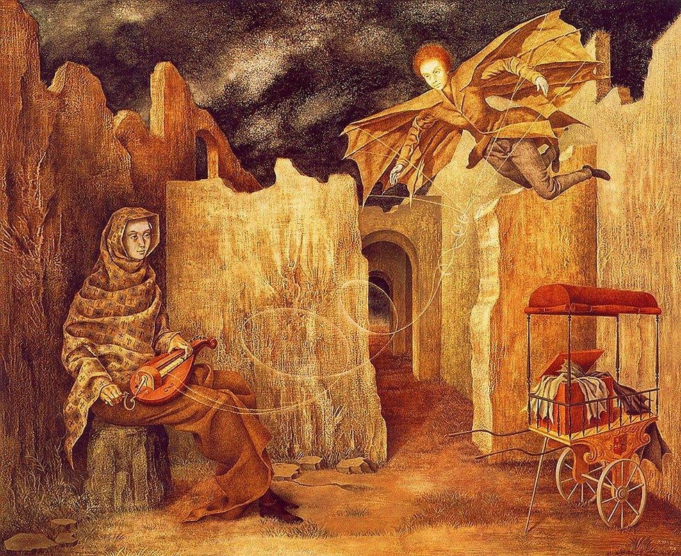 Magic Flight or Zamfonia - Remedios Varo