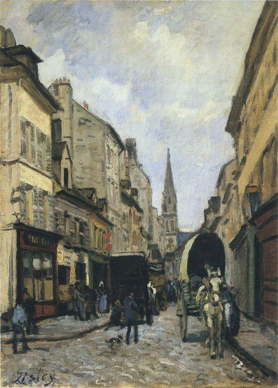 Main Street in Argenteuil - Alfred Sisley