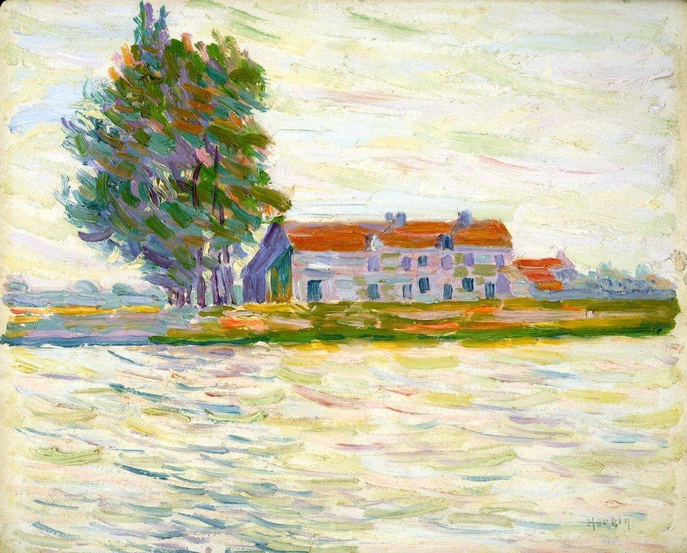 Maison au bord du Fleuve - Auguste Herbin