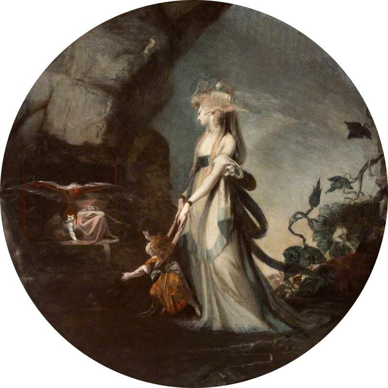 Mamillius Conjuring up Sprites and Goblins for His Mother, Hermione - Henry Fuseli