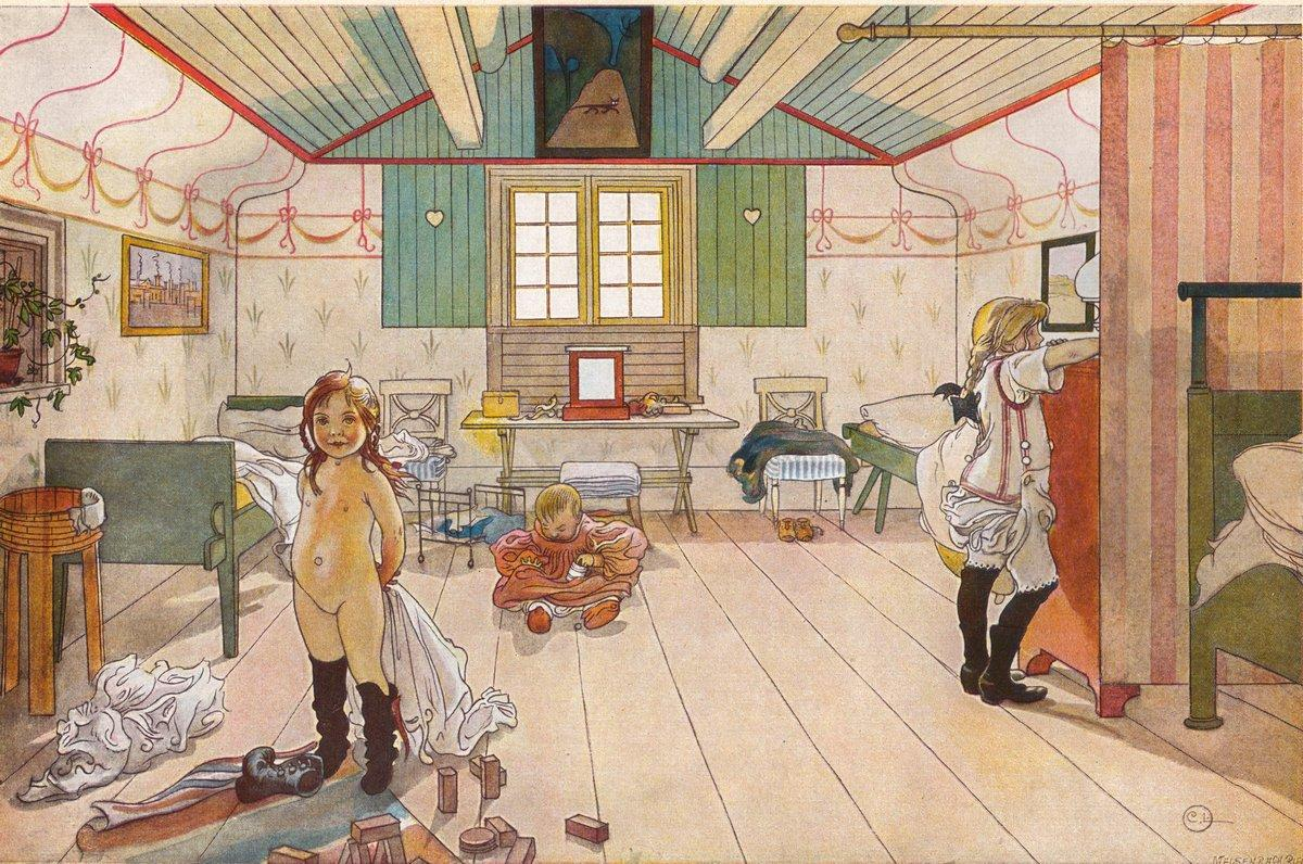 Mammas and the small girls - Carl Larsson
