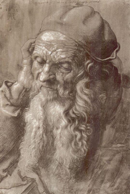 Man Aged 93 (brush & ink on paper) - Albrecht Durer