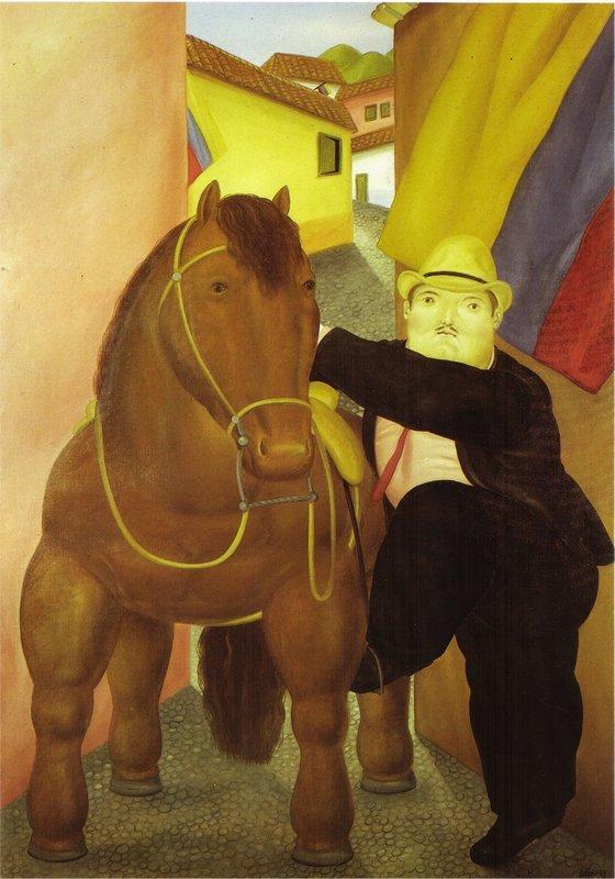 Man and Horse - Fernando Botero