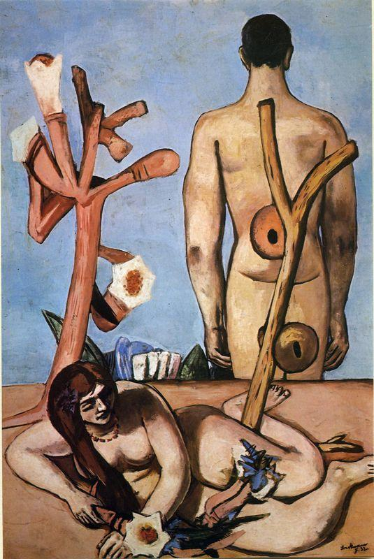 Man and woman - Max Beckmann