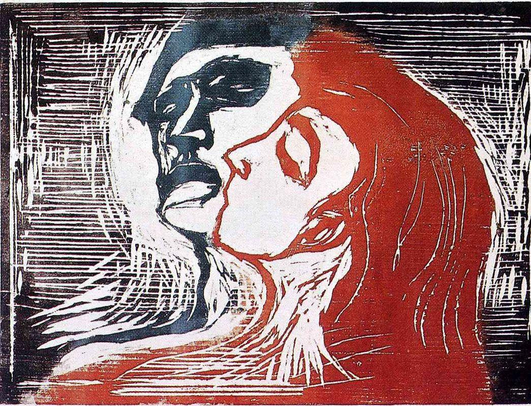 Man and Woman I - Edvard Munch