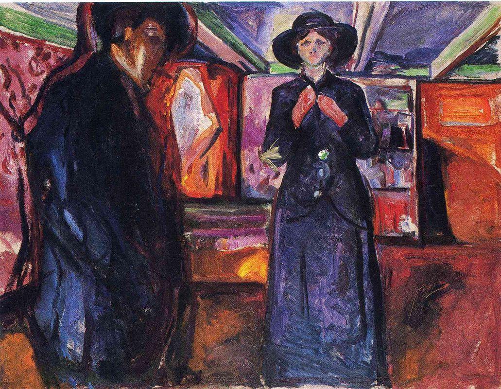 Man and Woman II - Edvard Munch