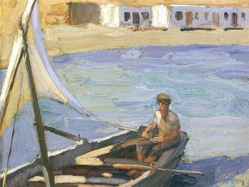 Boat with Sail (Panormos, Tinos) - Nikolaos Lytras
