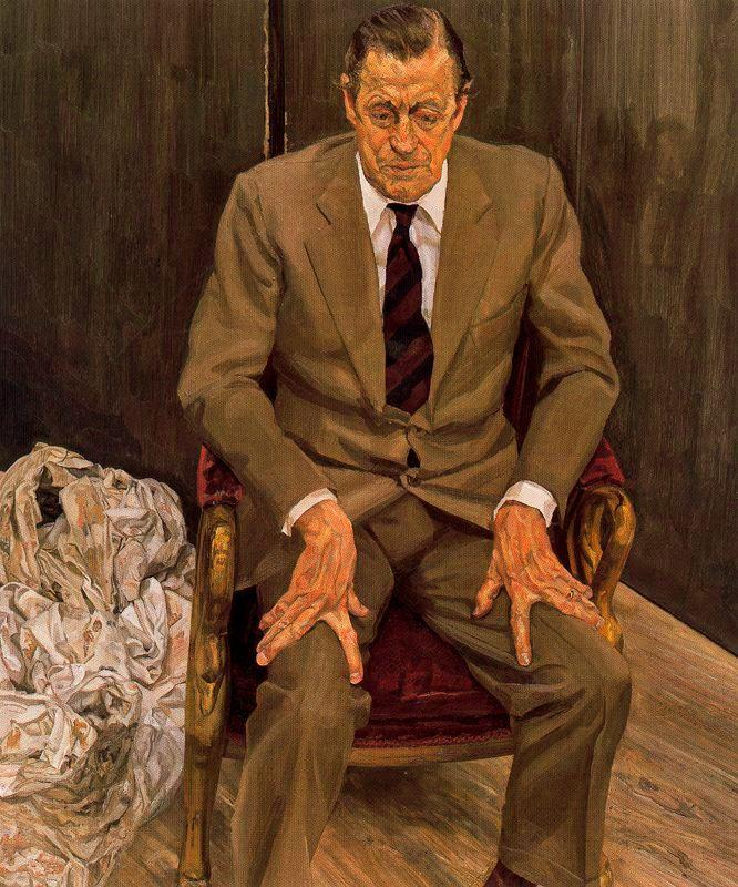 Man in a Chair - Lucian Freud