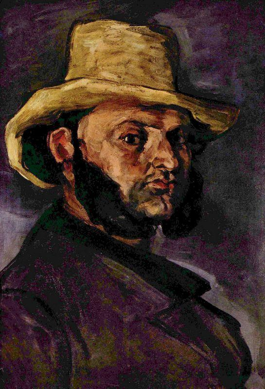 Man in a Straw Hat - Paul Cezanne