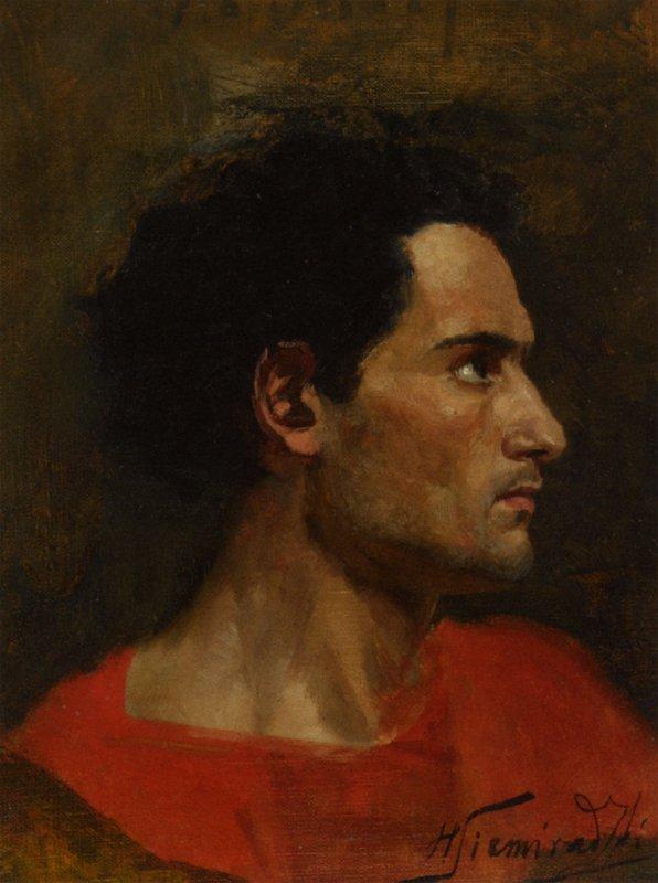 Man in Profile - Henryk Siemiradzki
