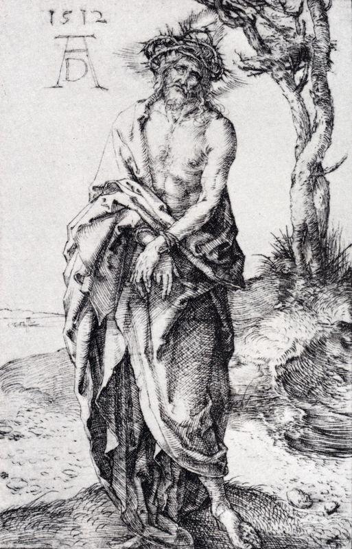 Man Of Sorrows With Hands Bound - Albrecht Durer