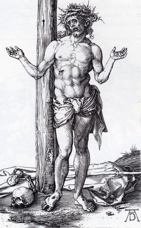 Man Of Sorrows With Hands Raised - Albrecht Durer
