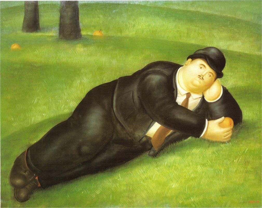 Man Reclining - Fernando Botero