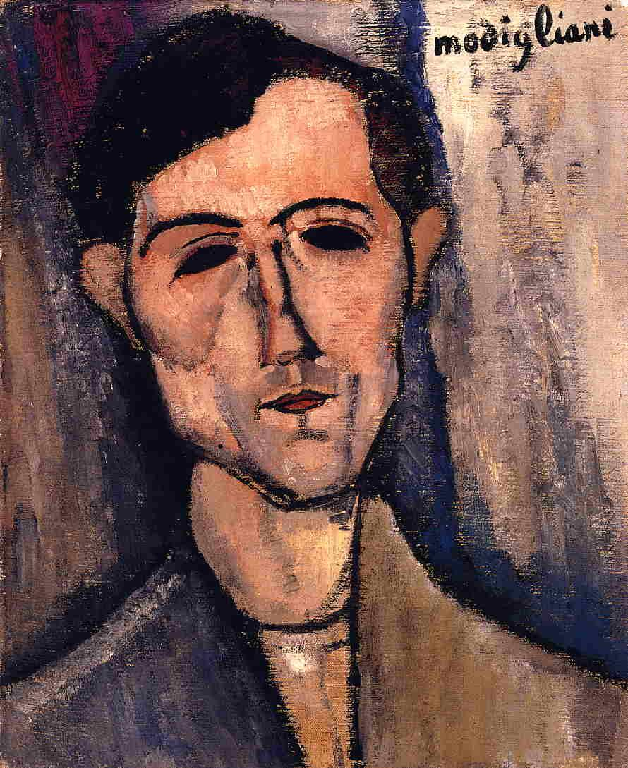 Man's Head (Portrait of a Poet) - Amedeo Modigliani