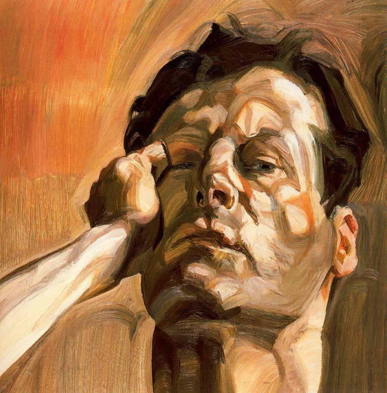 Man's Head, Self Portrait - Lucian Freud