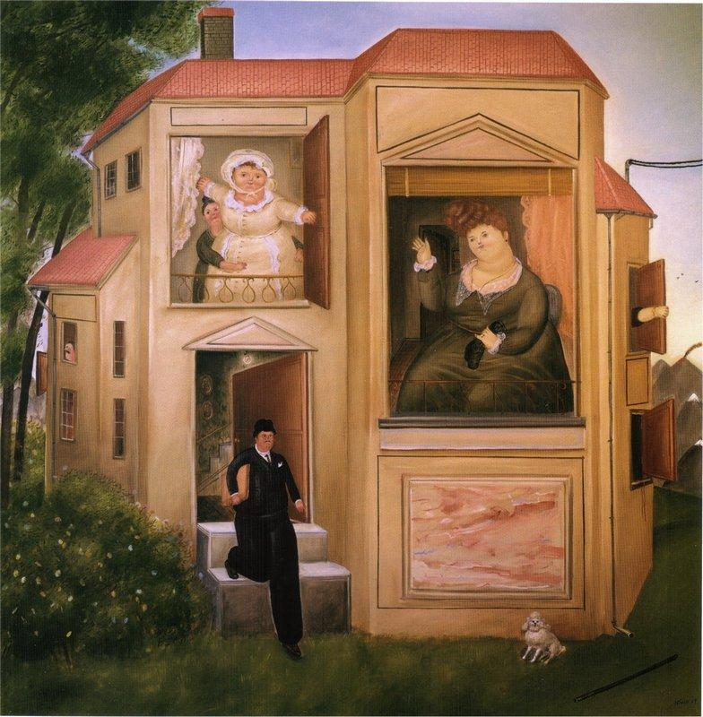 Man Who Went to the Office - Fernando Botero