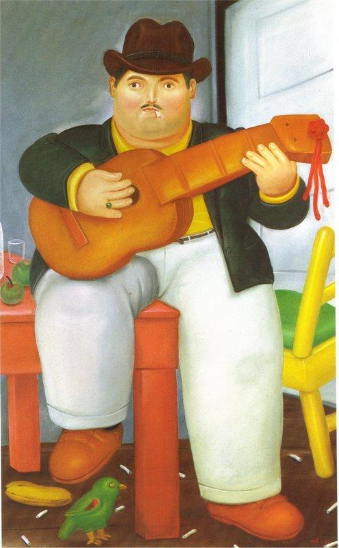Man with a Guitar - Fernando Botero