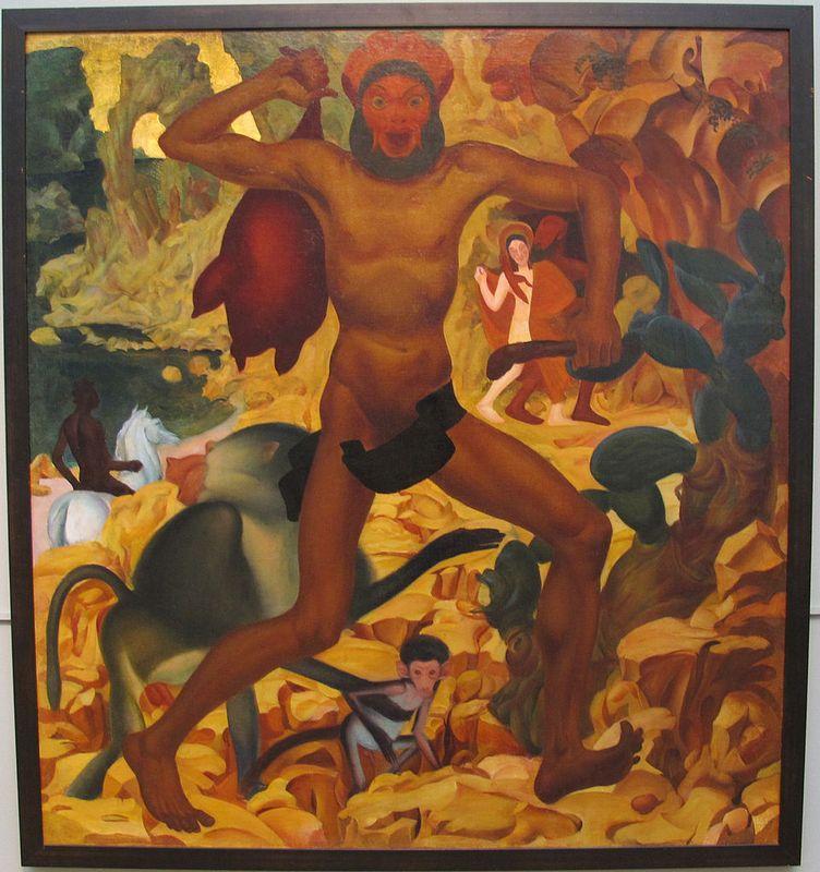 Man With a Monkey - Alexandre Jacovleff