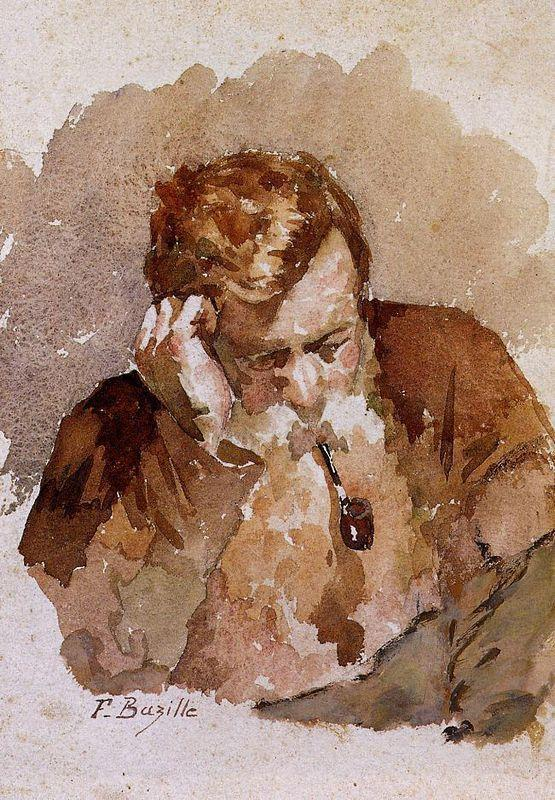 Man with a Pipe - Frederic Bazille