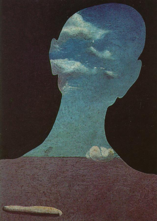 Man with His Head Full of Clouds - Salvador Dali