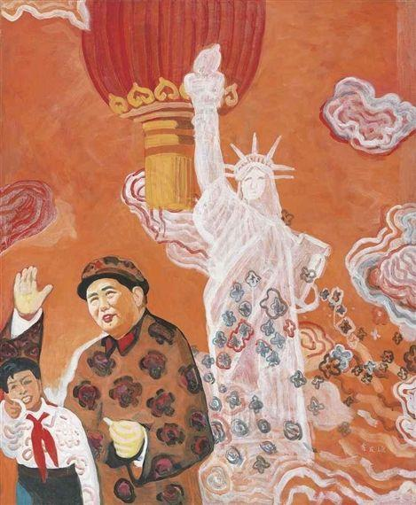 Mao and the Statue of Liberty - Yu Youhan